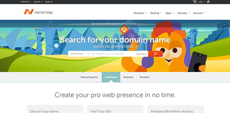 NameCheap Affiliate Registration