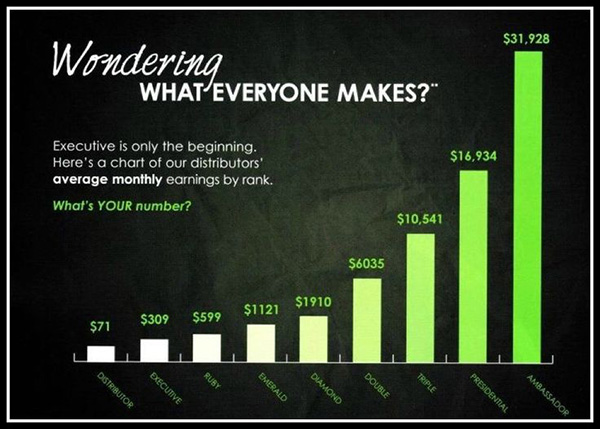 It Works Monthly Income Chart