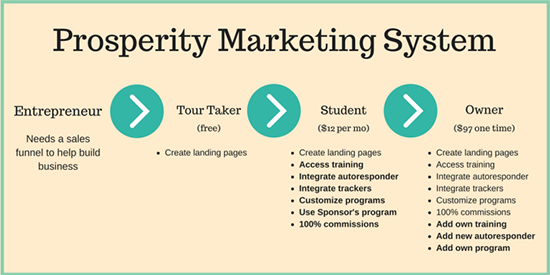 Prosperity Marketing System Rank and Level Review