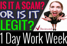 1 Day Work Week Review Scam Compensation Plan