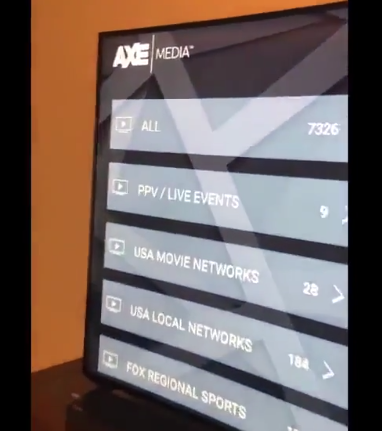 AXE Media TV on Amazon Fire Stick