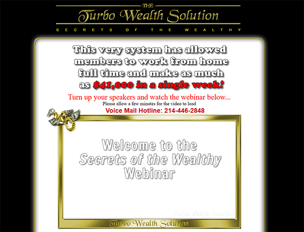 Turbo Wealth Solution Review of the Marketing System
