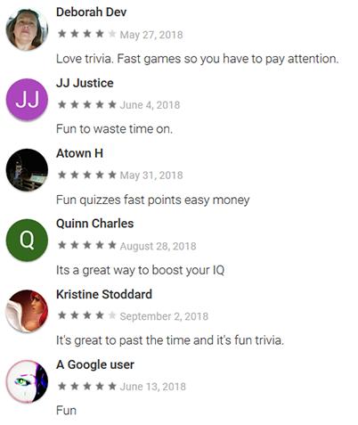 Perk Pop Quiz Review Testimonials