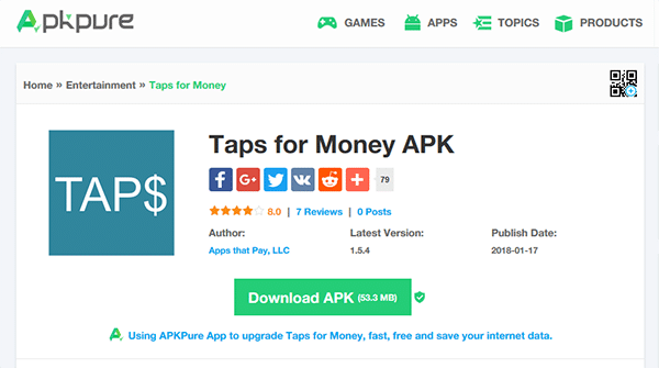 Taps For Money App Review