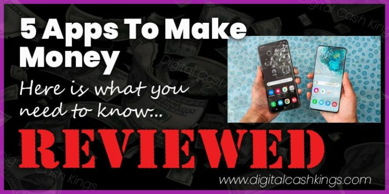 5 Apps To Make Money On Your Phone